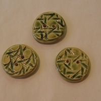 Boutons ronds verts