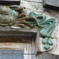 Céramiques de la villa Alexandre avant démontage