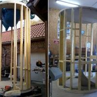 Structures en bois de la tour