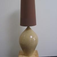 Lampe en grès couleur sable2