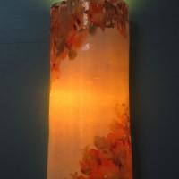 Applique en porcelaine Cosmos orange