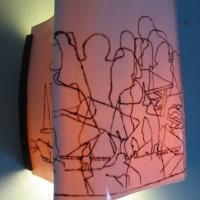Applique en porcelaine peinte à la main