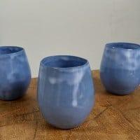 Tasses à expressos bleues