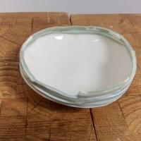 Repose savon en porcelaine colorée